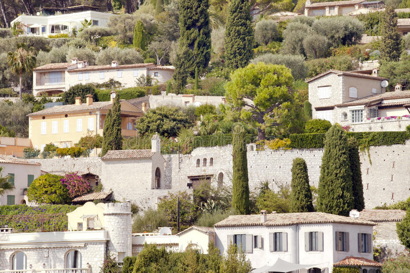 Luxury Stone Villas On Seaside Hill With Olive Gardens Stock Image Image Of Property Holiday