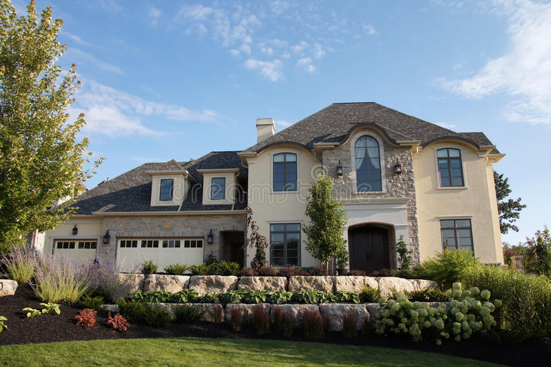 Luxury Stucco House Stone Royalty Free Stock Images
