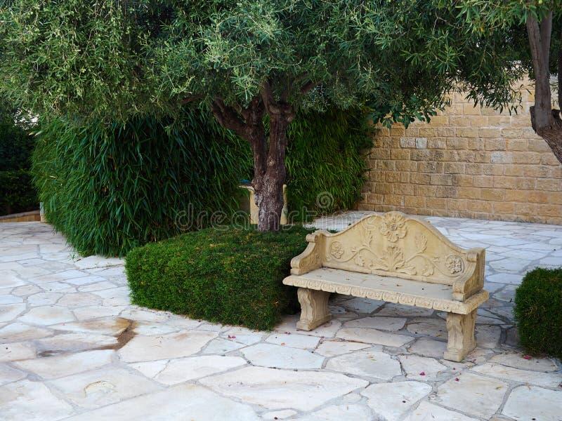 Luxury style beautiful Mediterranean garden royalty free stock photo