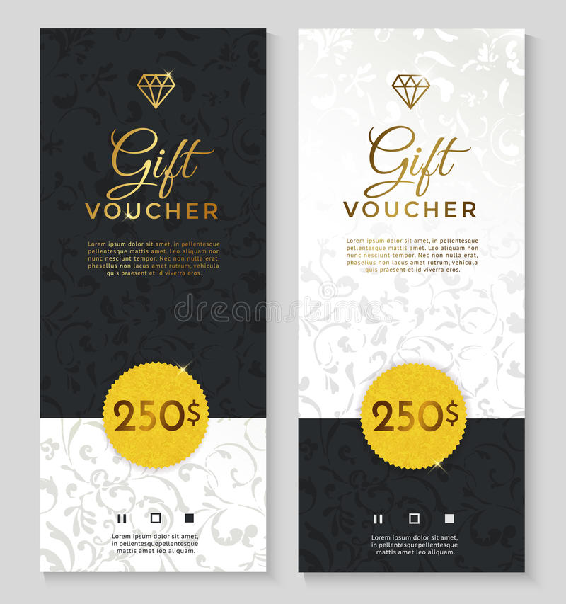 Luxury style gift voucher stock vector. Illustration of element ...