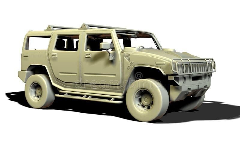 Luxury SUV royalty free illustration