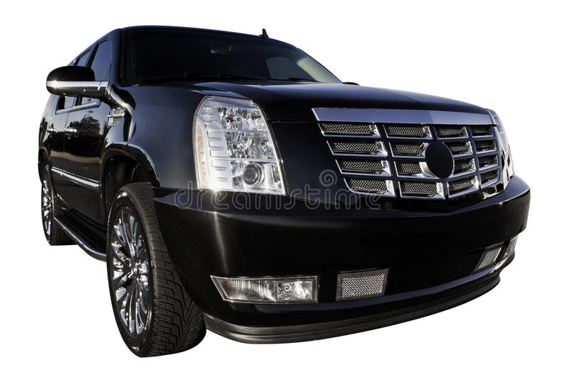 Luxury SUV. Nice and Beautiful Luxury elegant SUV car for weddings stock photos