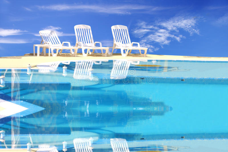 Download Luxury swimming pool stock photo. Image of bright, paradise - 18024266