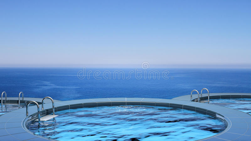 Download Luxury swimming pool stock illustration. Image of background - 27012557