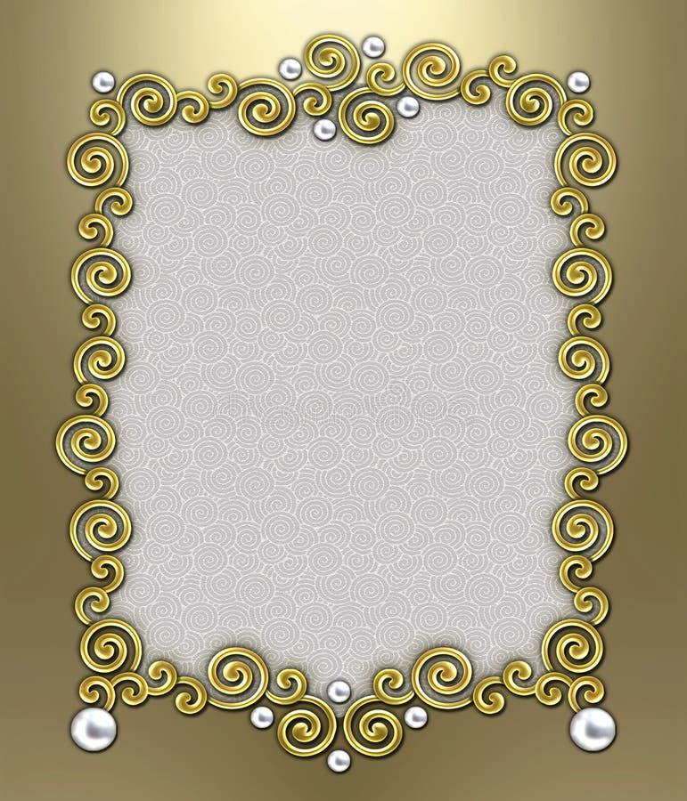 Luxury Swirl Frame royalty free stock images