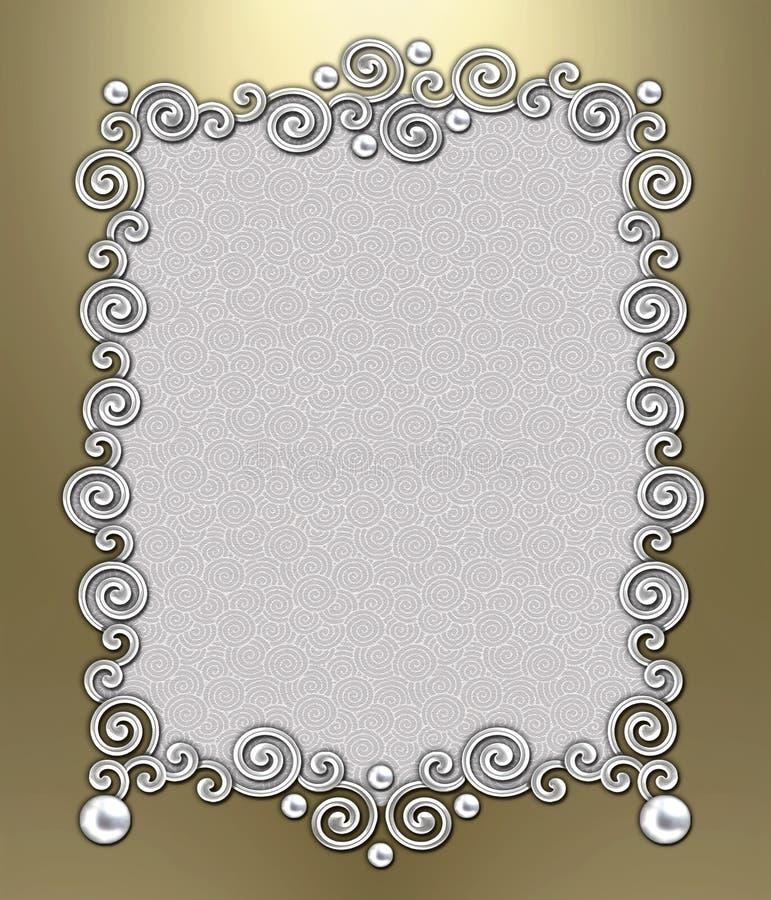 Luxury Swirl Frame stock images