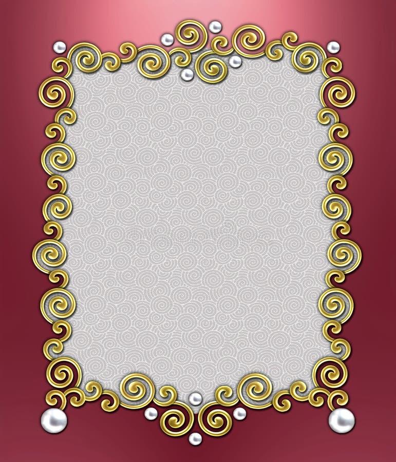 Luxury Swirl Frame stock photo