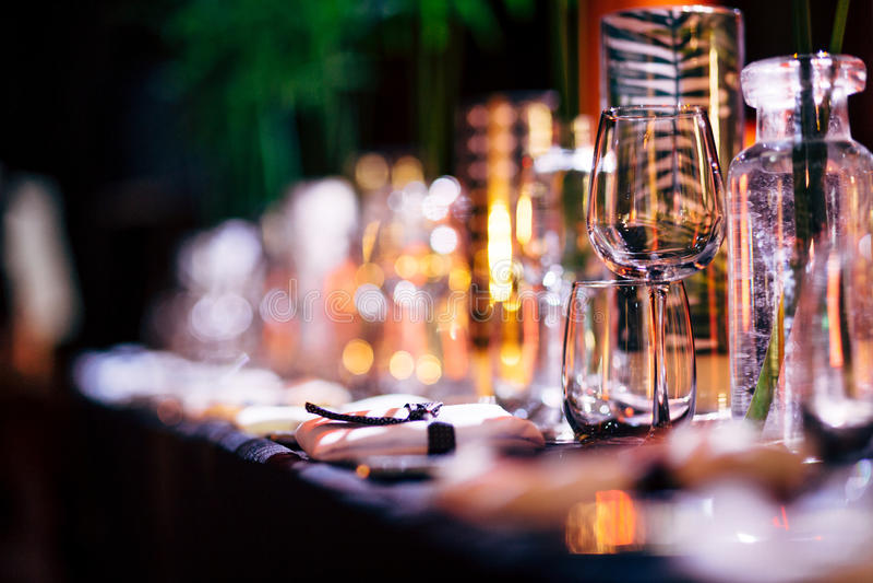 Luxury Table setting. stock image