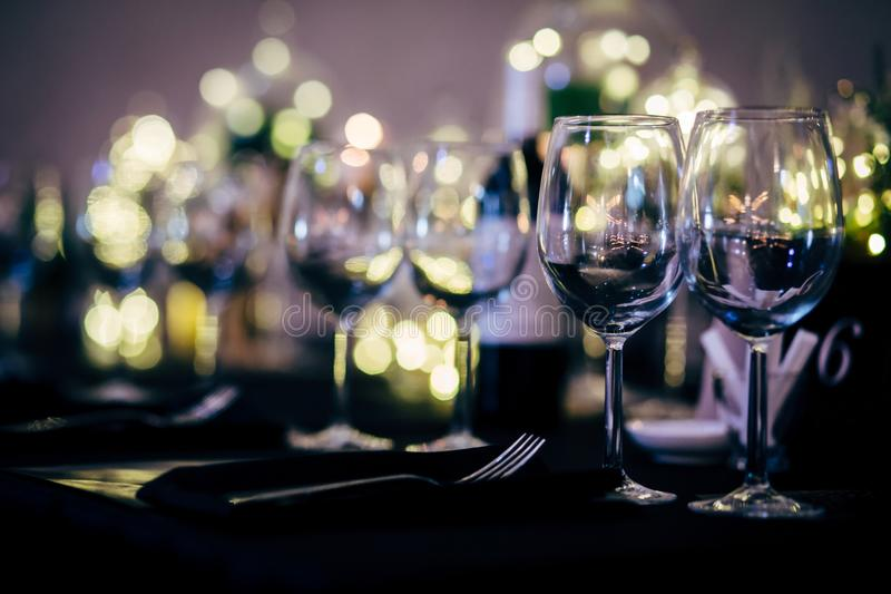 Luxury Table setting for party, Christmas, holidays and weddings.  stock photography
