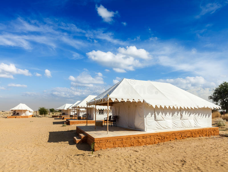 Luxury tent camp, India royalty free stock photography