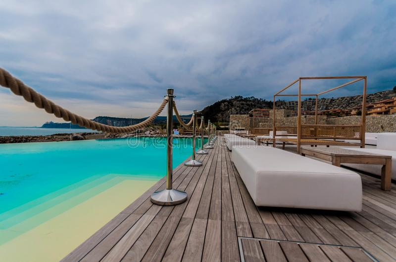 Download Luxury terace on beach stock image. Image of sofas, blue - 107390081