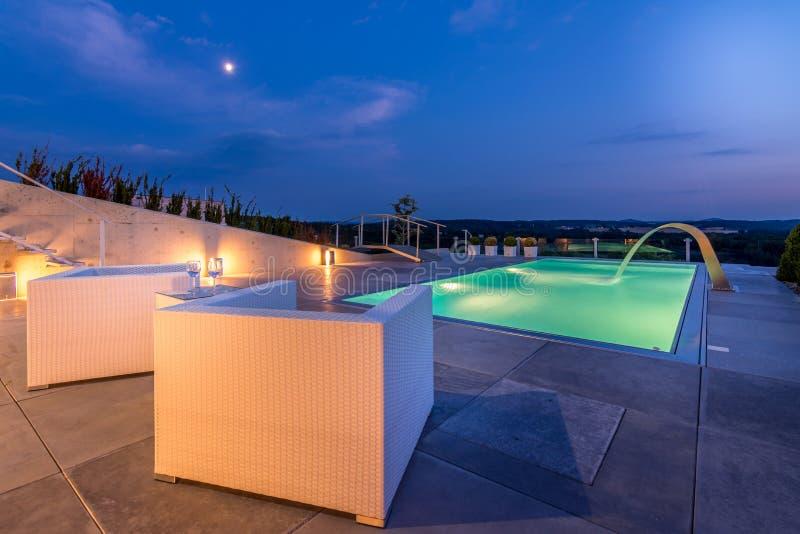 Luxury Villa exterior stock photography