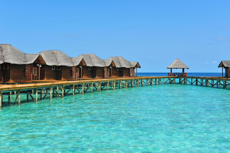 Luxury tropical resort in Maldives stock image