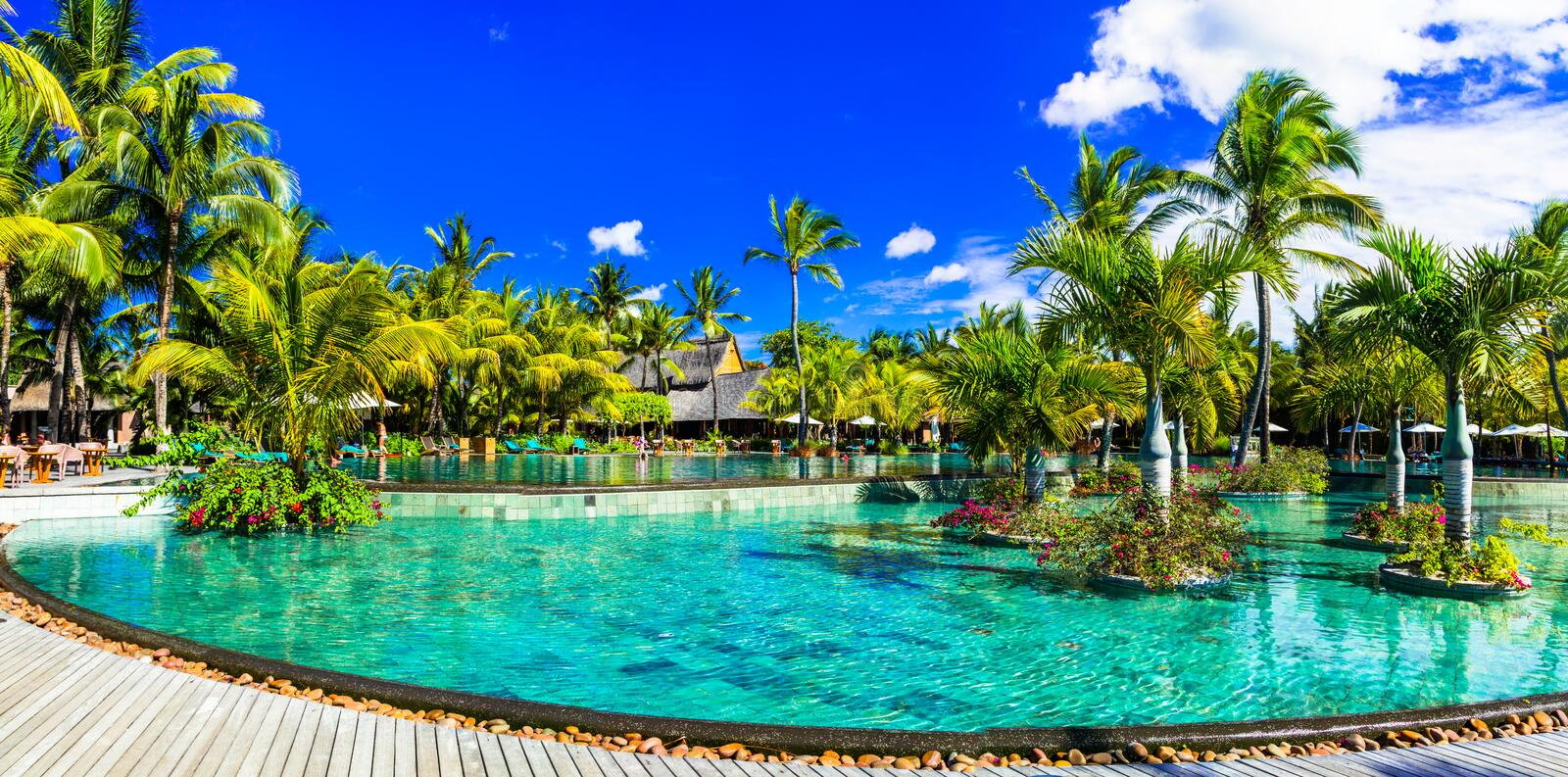 Luxury tropical vacation in Mauritius island stock photography