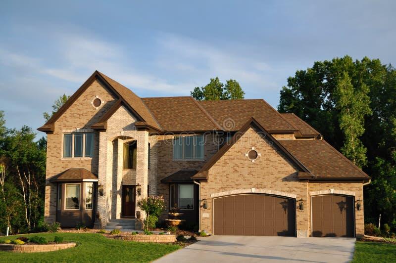 Luxury Two Story Suburban Executive Home Stock Image