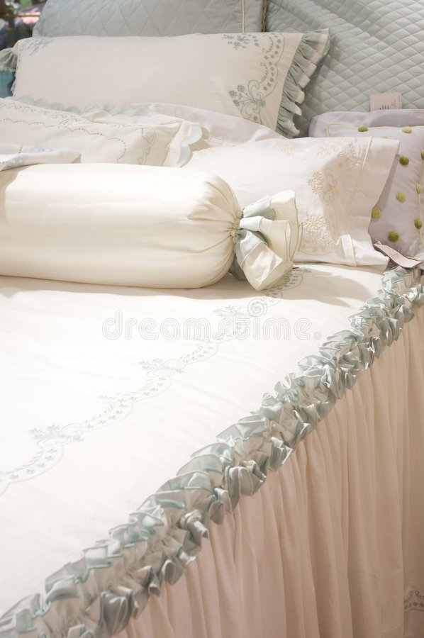 Luxury upscale bedding and linens. An image of luxurious upscale bedding and linens stock photos