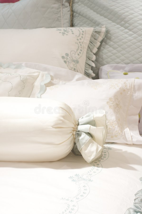 Luxury upscale bedding and linens. An image of luxurious upscale bedding and linens royalty free stock photos