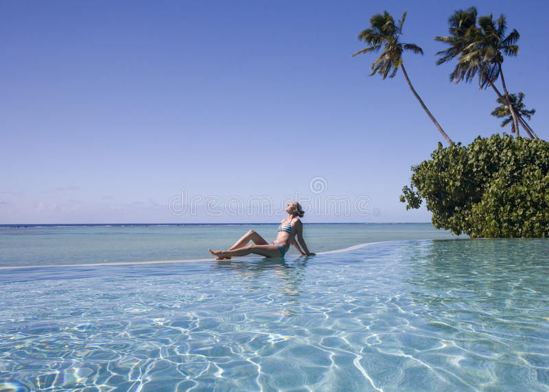 Luxury Vacation - Cook Islands - South Pacific Stock Images