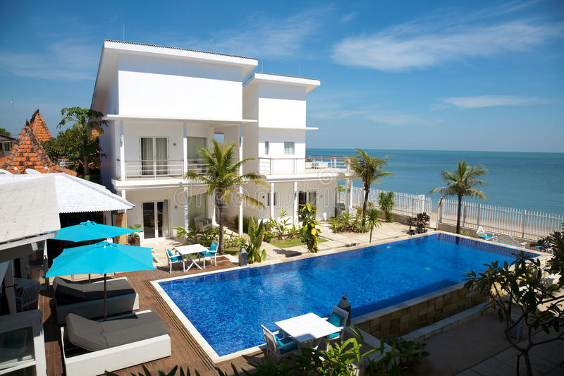 Download Luxury villa stock photo. Image of home, blue, house - 20703220
