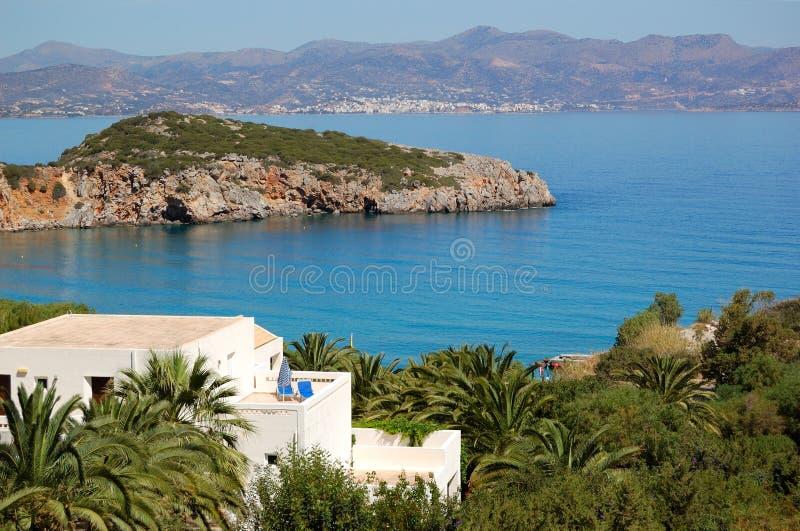 Luxury villa at modern resort stock photos