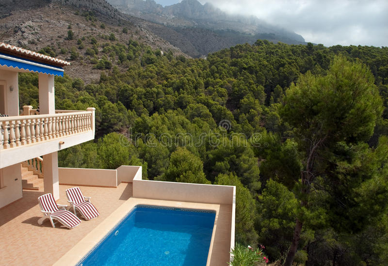 Luxury villa in Spain stock image