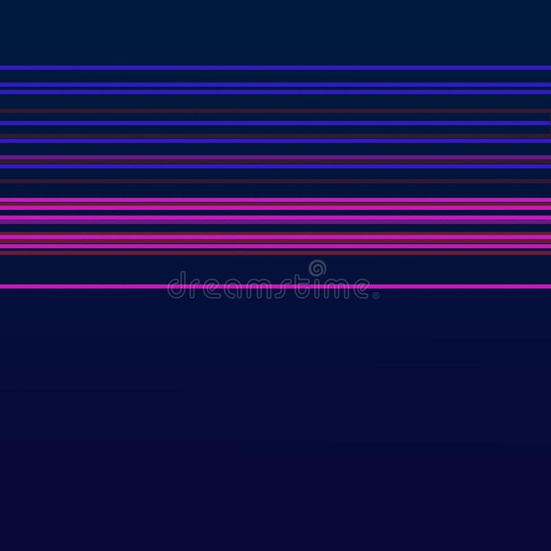 Luxury exotic DESIGN GEOM PLUM DEEP BLUE. LUXURY VINT. DESIGN Pattern Geom Deep blue with pink lines 50s stock illustration