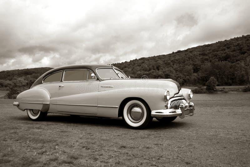 Luxury Vintage Fast Old Car Speeding stock images