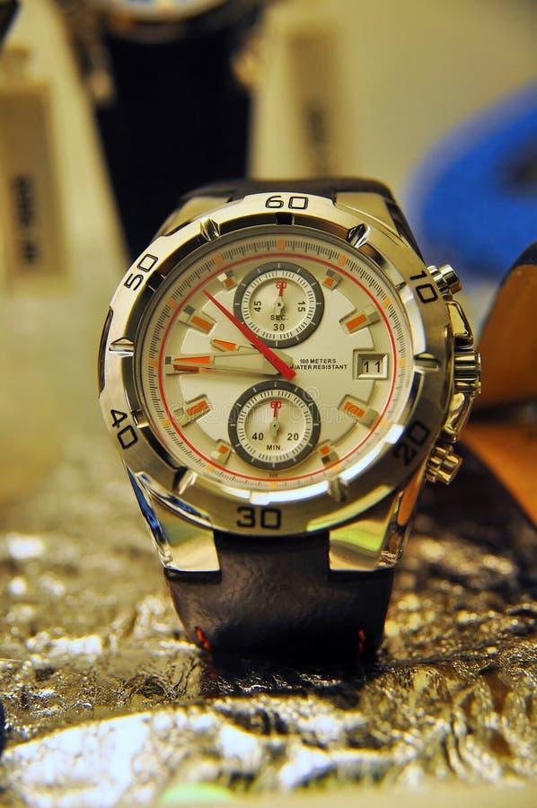 Luxury watch. Macro of a luxury watch royalty free stock photos