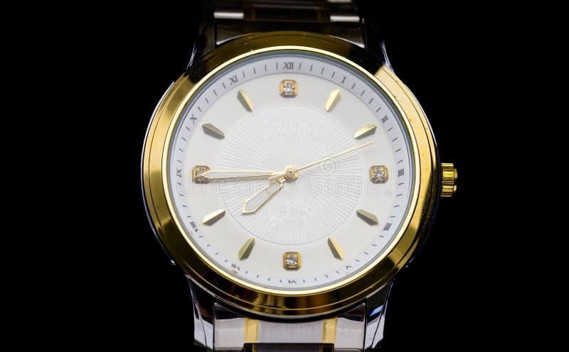 Luxury watch. On a box stock photos