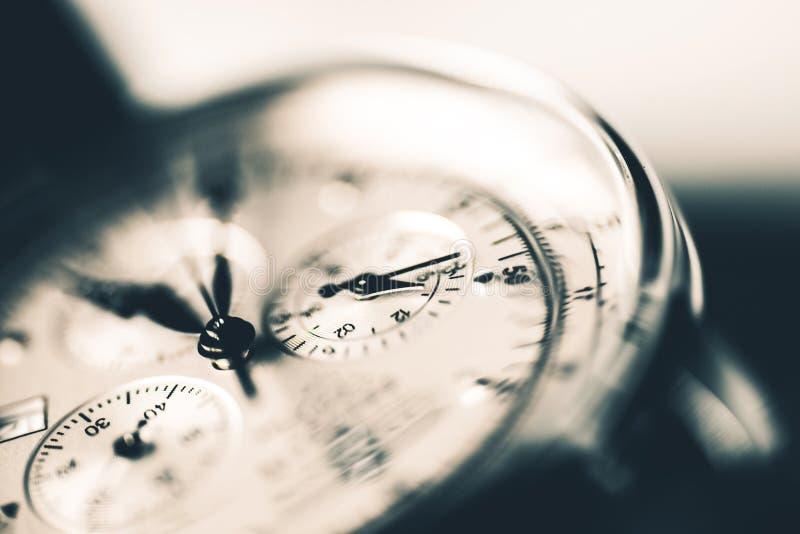 Luxury Watch Closeup. Photo. Elegant Mens Hand Watch stock image