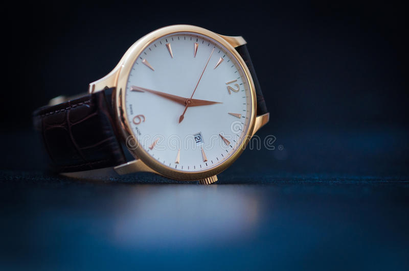 Luxury Watch. On the table royalty free stock image