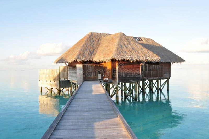 Luxury water villa, Maldives stock photography