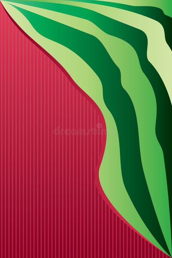 Luxury watermelon stylish background stock illustration