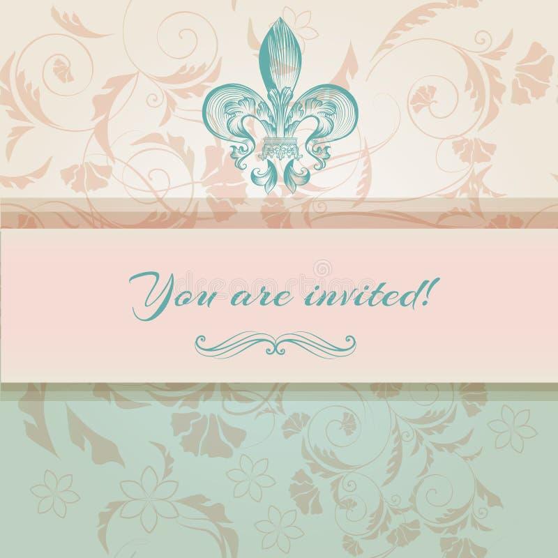 luxury wedding invitation in victorian style stock vector