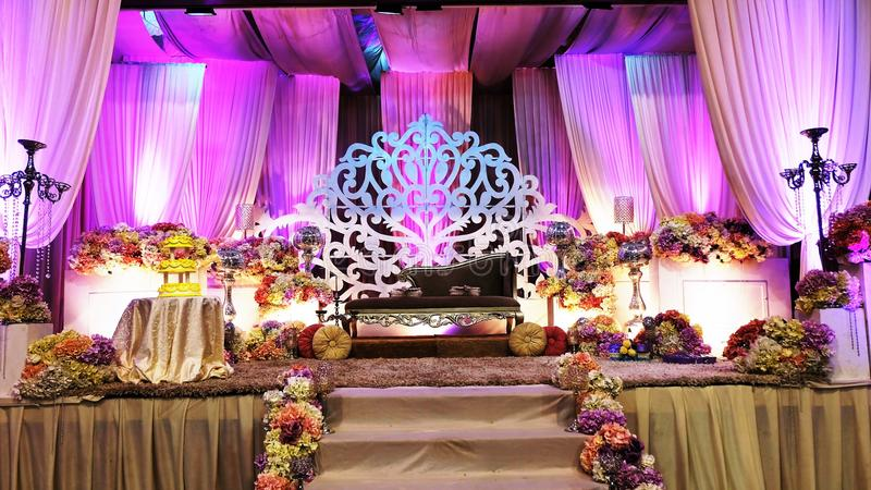 Luxury wedding stage in front view royalty free stock photography