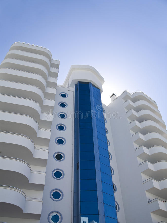 Luxury white building royalty free stock photography