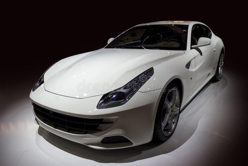 Luxury white sport car royalty free stock photo
