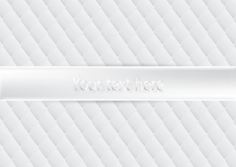 Luxury white upholstery texture background royalty free illustration