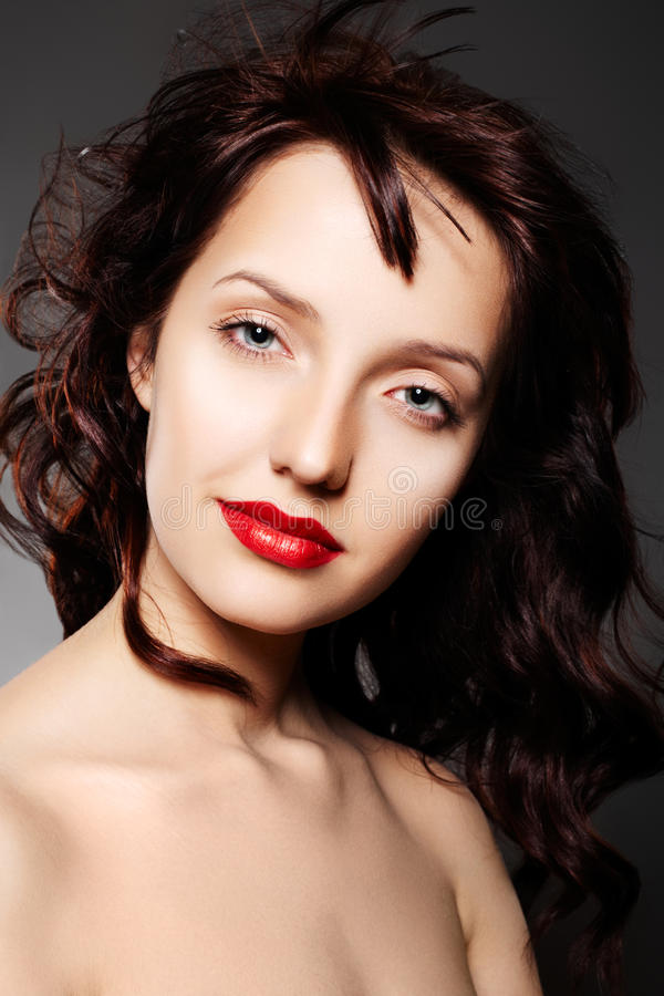 Download Luxury Woman With Evening Make-up And Long Hair Stock Photo - Image: 14535812