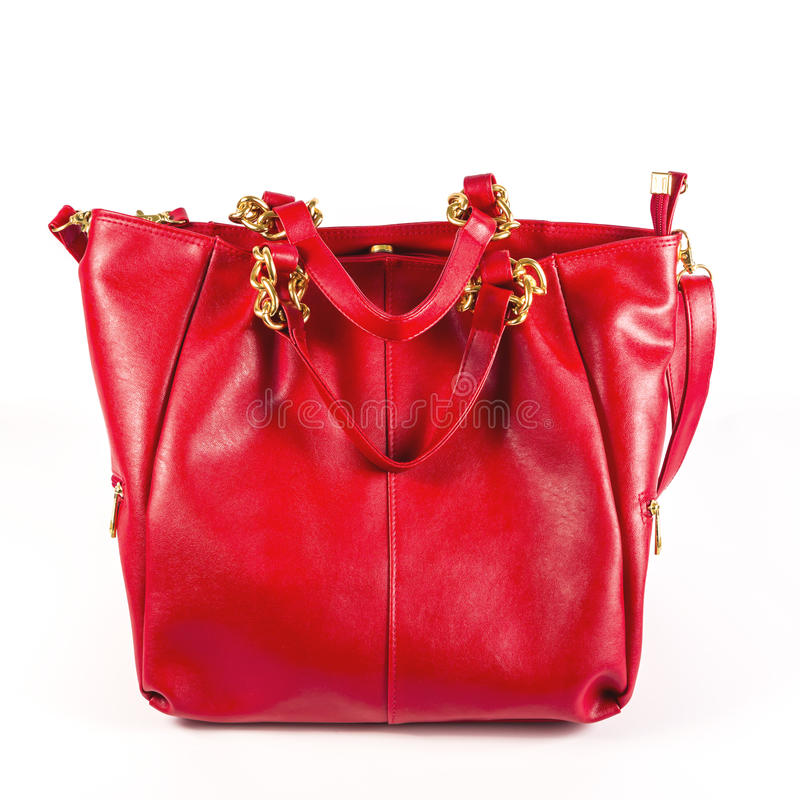 Luxury women bag over white. Fashion and beauty royalty free stock photography