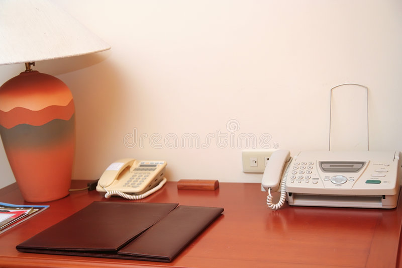Luxury working table in the house royalty free stock image