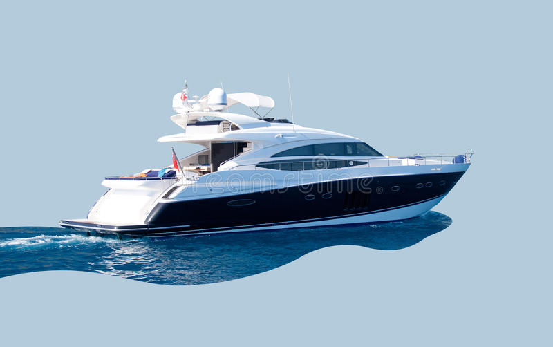 Download Luxury yacht stock photo. Image of motor, ship, speed - 28292448