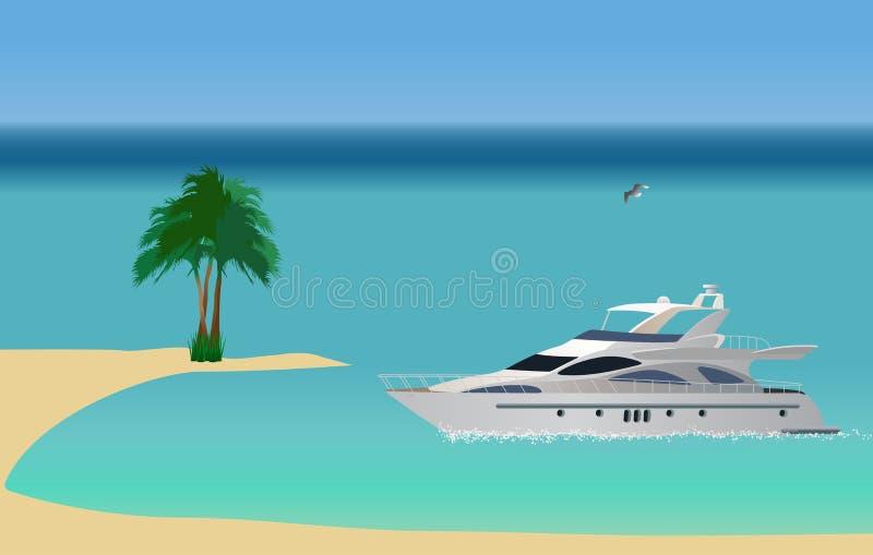 Download Luxury yacht stock vector. Illustration of ship, illustration - 9880623