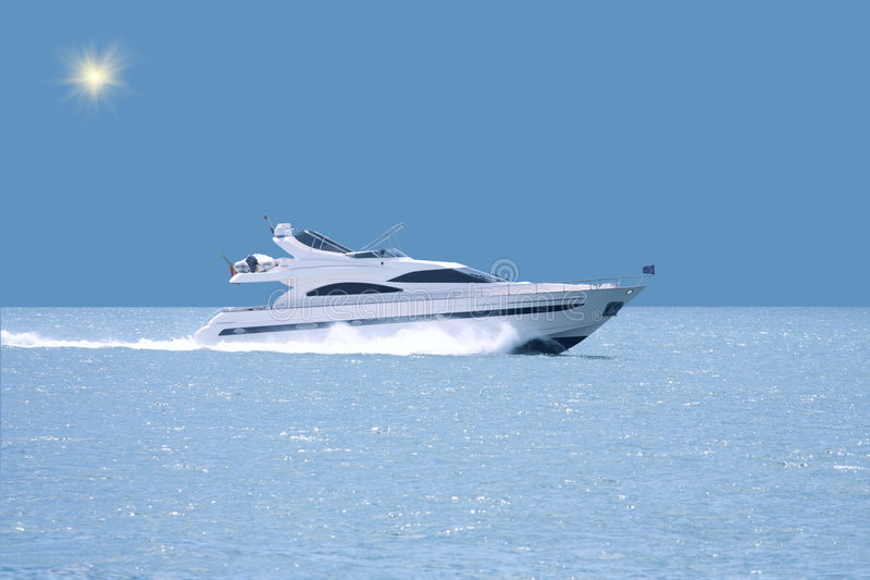 Luxury yacht with horizon line. Yacht with horizon line (lisbon stock photography