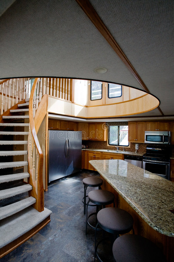 Luxury yacht interior royalty free stock image