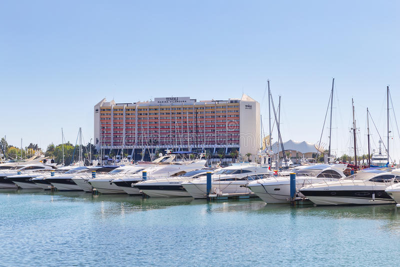 Download Luxury Yacht In The Port Of Vilamoura In Portugal, Near The Hote Editorial Stock Image - Image: 34406329
