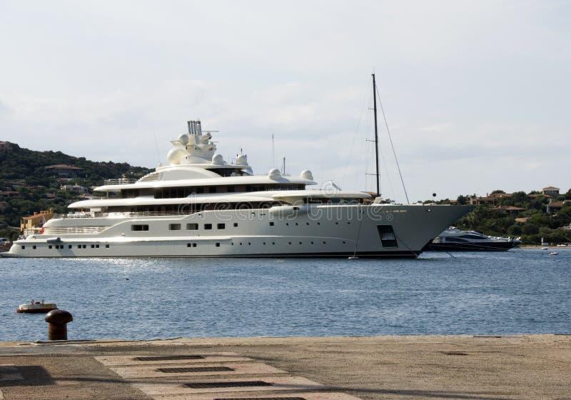 Luxury yacht a Porto Cervo royalty free stock photography