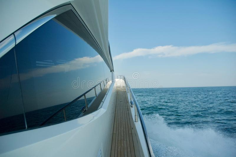Luxury Yacht Sailing the Ocean in Newport, Rhode Island. stock photos
