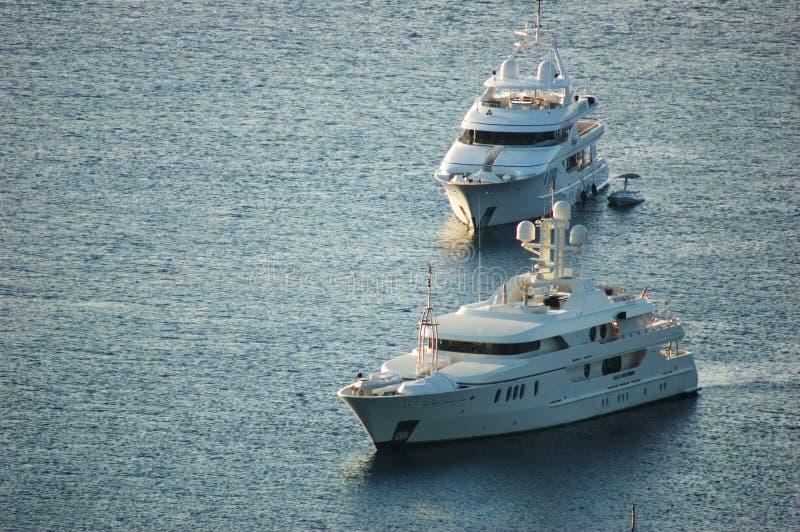 Luxury yachts royalty free stock photography