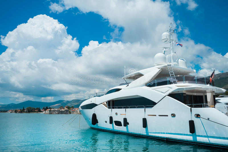 Download Luxury Yachts In Beautiful. Stock Image - Image of landscape, beautiful: 88451235